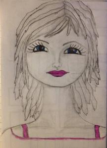 Face sketched November 10, 2013